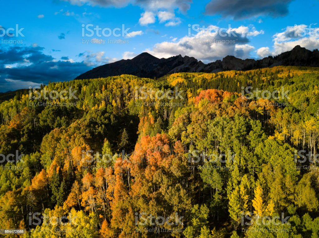 Fall Colors Near Crested Butte stock photo