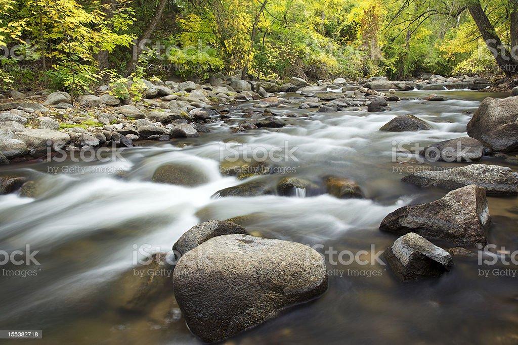 Fall Colors on Colorado River stock photo