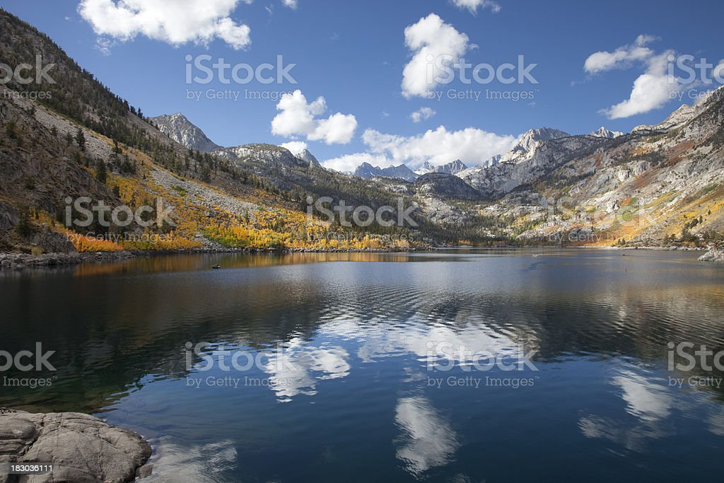 Fall Colors on Lake Sabrina stock photo