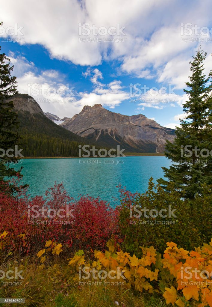 Fall Colours at the Lake stock photo