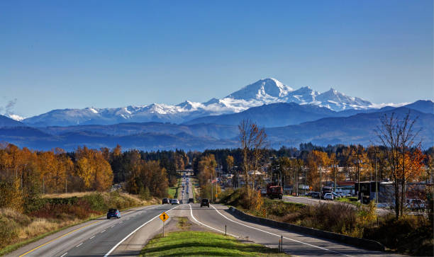 Fall colours on sides of road to Mt. Baker Fall colours on sides of road to Mt. Baker bc stock pictures, royalty-free photos & images