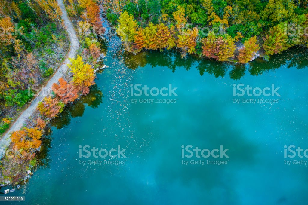 Fall comes to Austin Texas stock photo