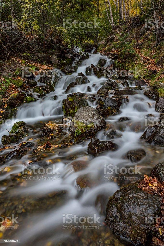Fall Creek Falls, Alaska stock photo