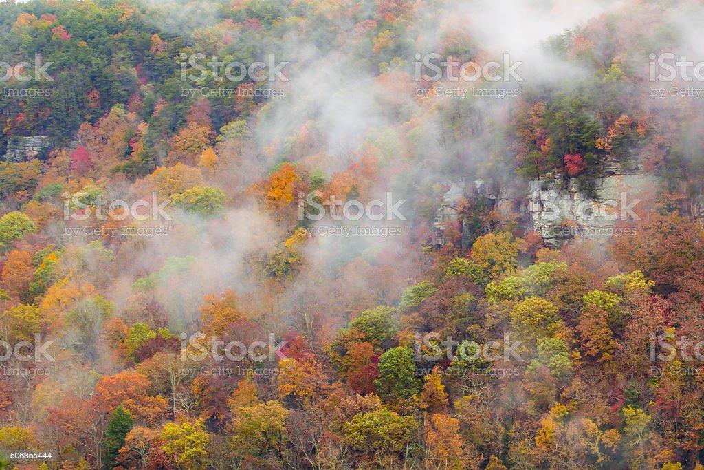 Fall Creek Falls Mist stock photo