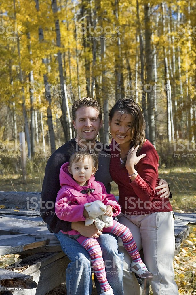 Fall Family 2 royalty-free stock photo