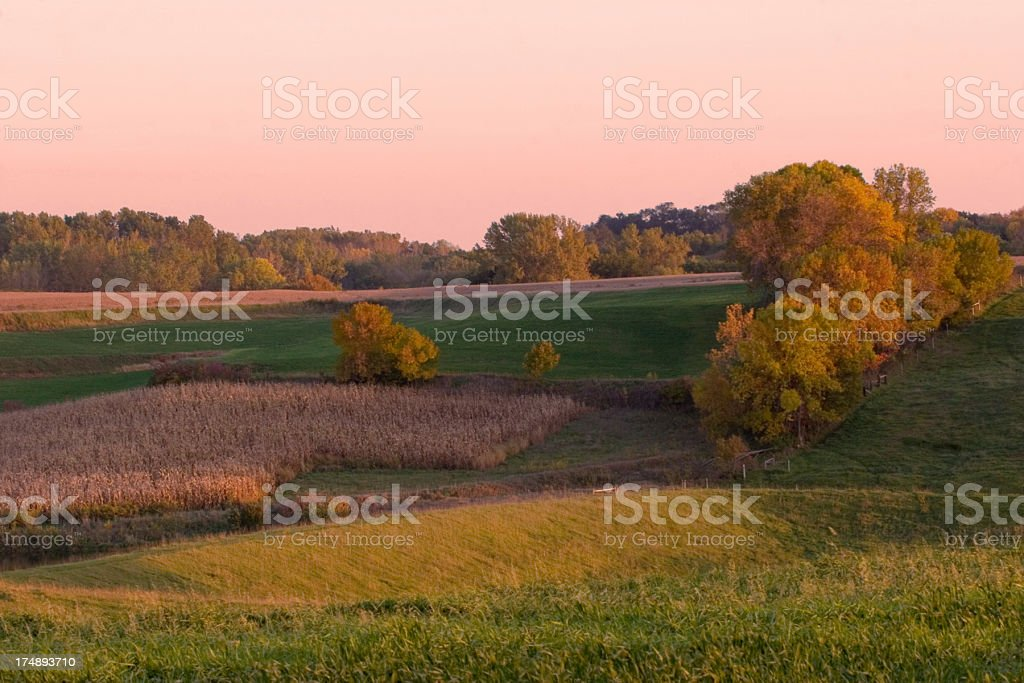 Fall Farm Colors royalty-free stock photo