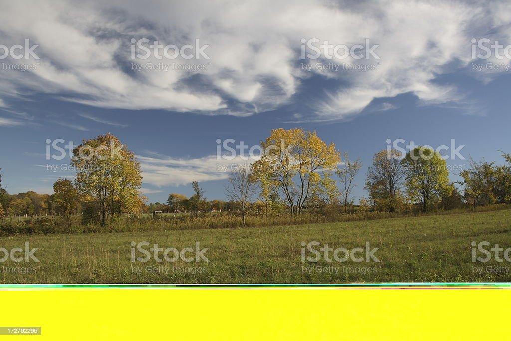 Fall Farm Meadow royalty-free stock photo