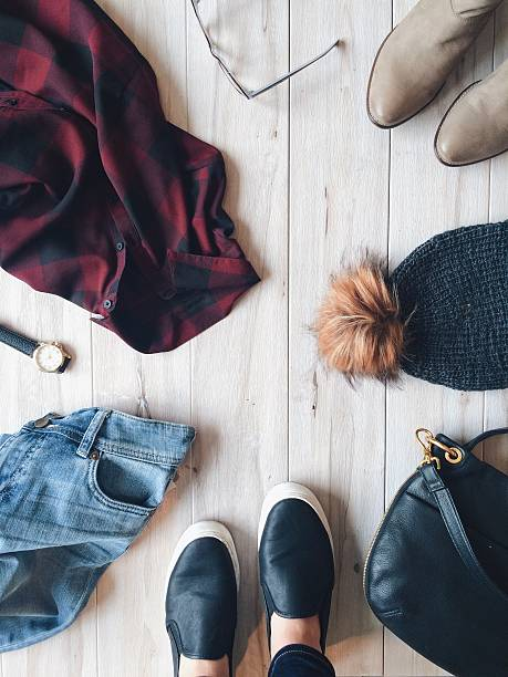 fall fashion at a glance - fall fashion stock photos and pictures