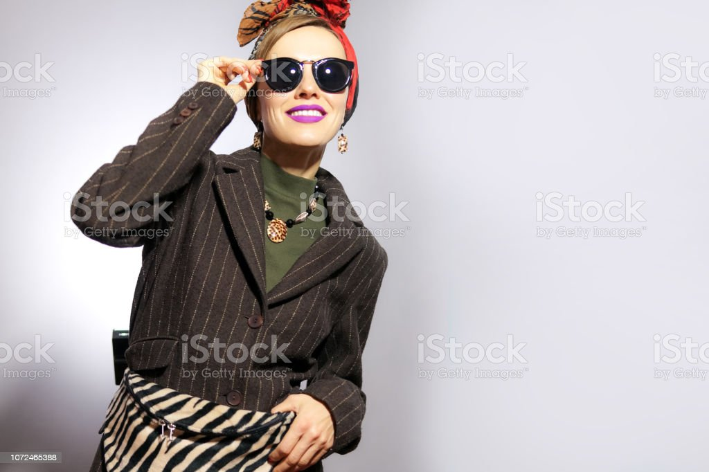 Fall Fashion. Model in Stylish Trendy Outfit royalty-free stock photo