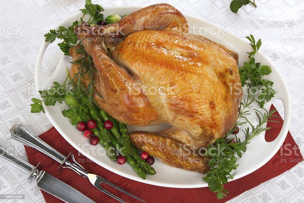 Fall festival roast turkey stock photo