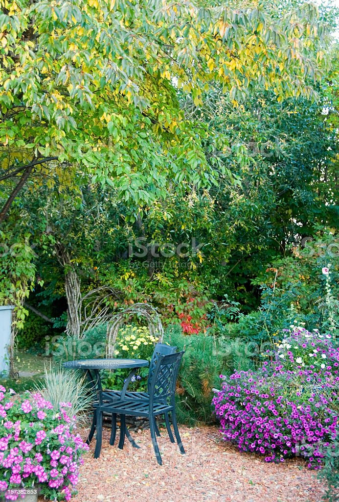 Fall Flower Garden stock photo