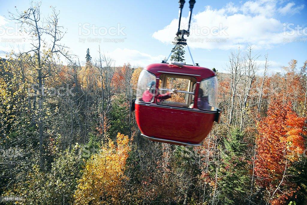 Fall foliage  and gondola stock photo