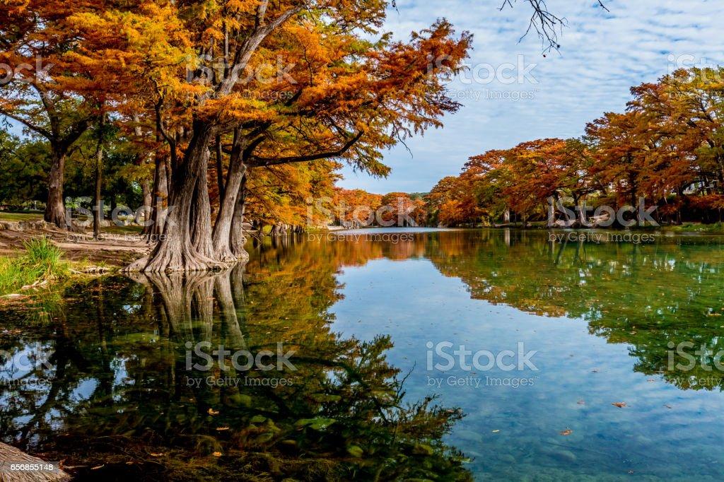 Fall Foliage at Garner State Park, Texas stock photo