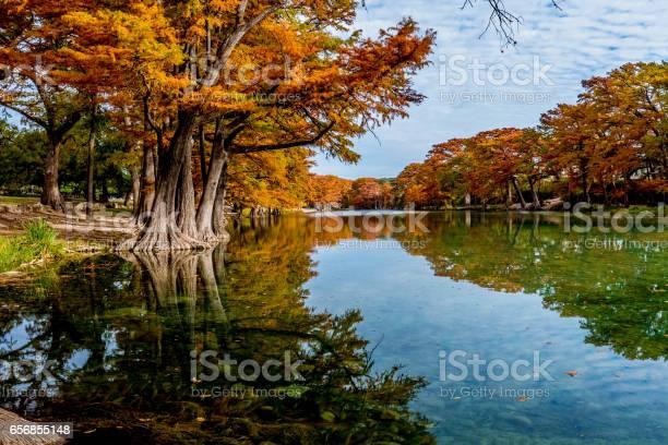 Photo of Fall Foliage at Garner State Park, Texas