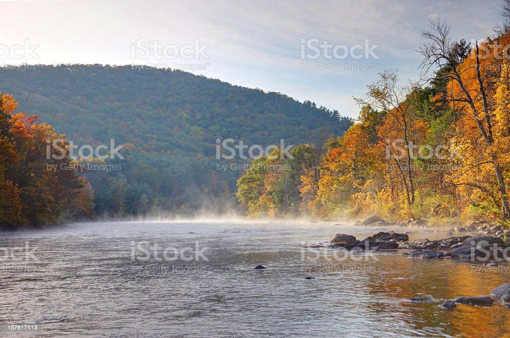 Fall Foliage in the Litchfield Hills of Connecticut stock photo