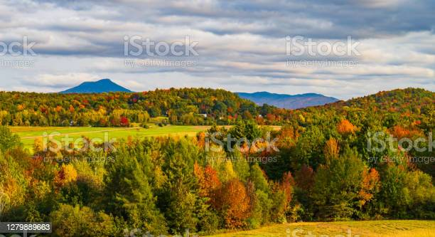 Photo of fall foliage season, in Vermont