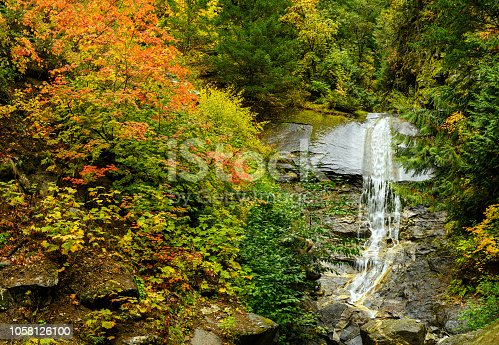 istock Fall foliage with waterfall in the Lillooet-Fraser Canyon 1058126100