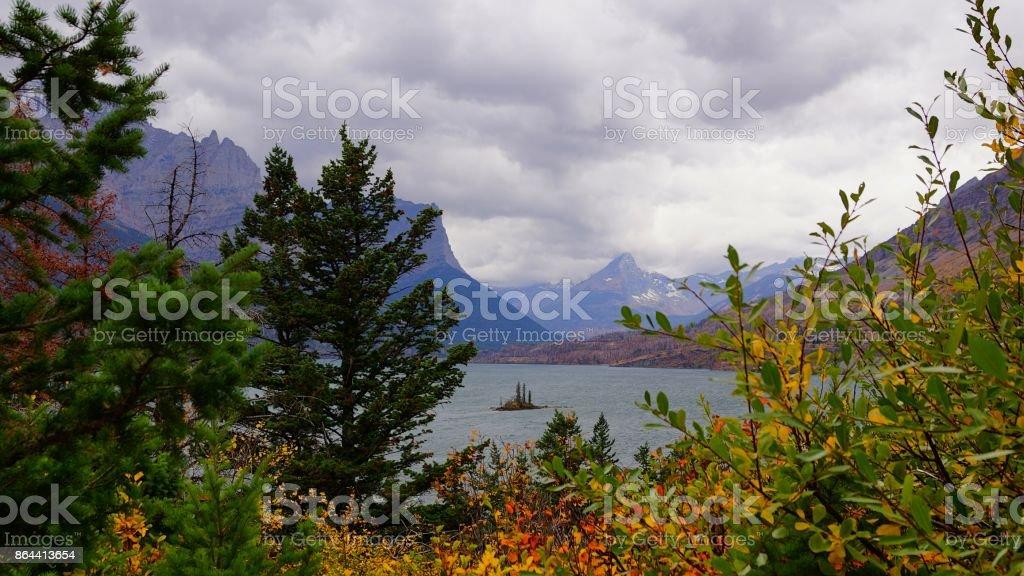 Fall Framed Wild Goose Island stock photo