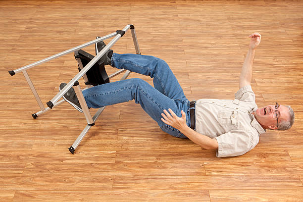 Royalty Free Man Falling From Step Ladder Pictures Images
