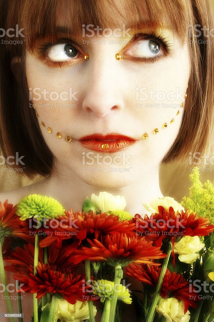 Fall Garden Princess royalty-free stock photo