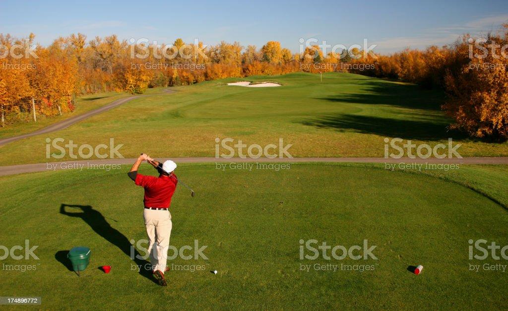 Fall Golf stock photo
