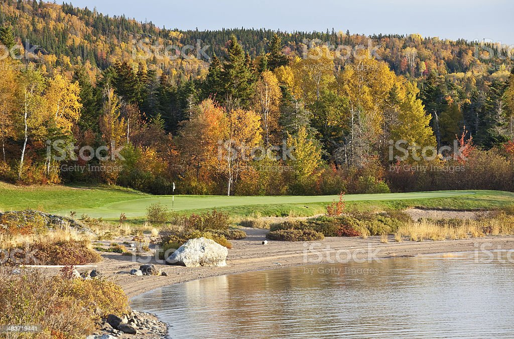 Fall Golf stock photo