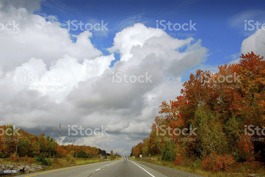 Fall highway royalty-free stock photo