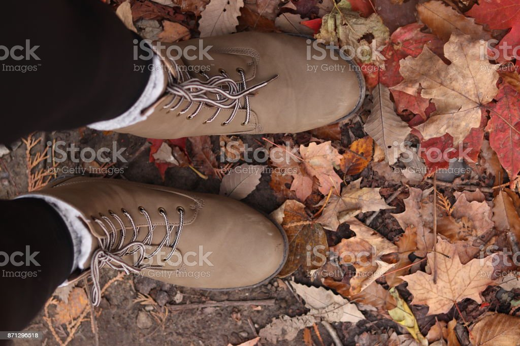 fall hikes stock photo