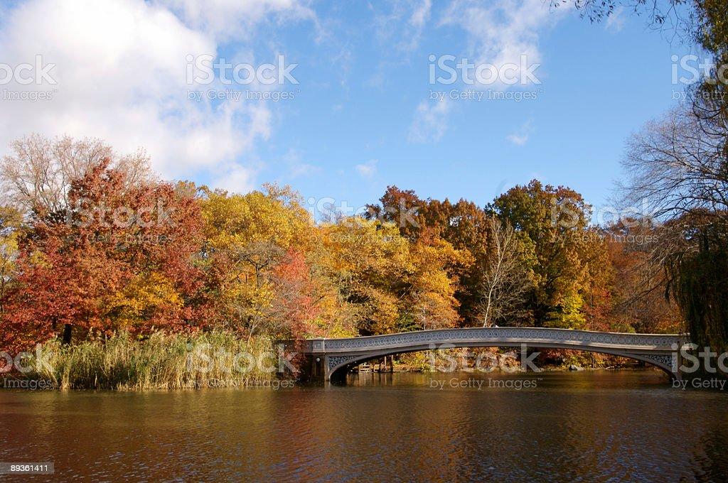 Autunno nel Central Park foto stock royalty-free