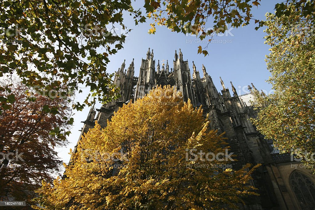 Fall in Cologne royalty-free stock photo