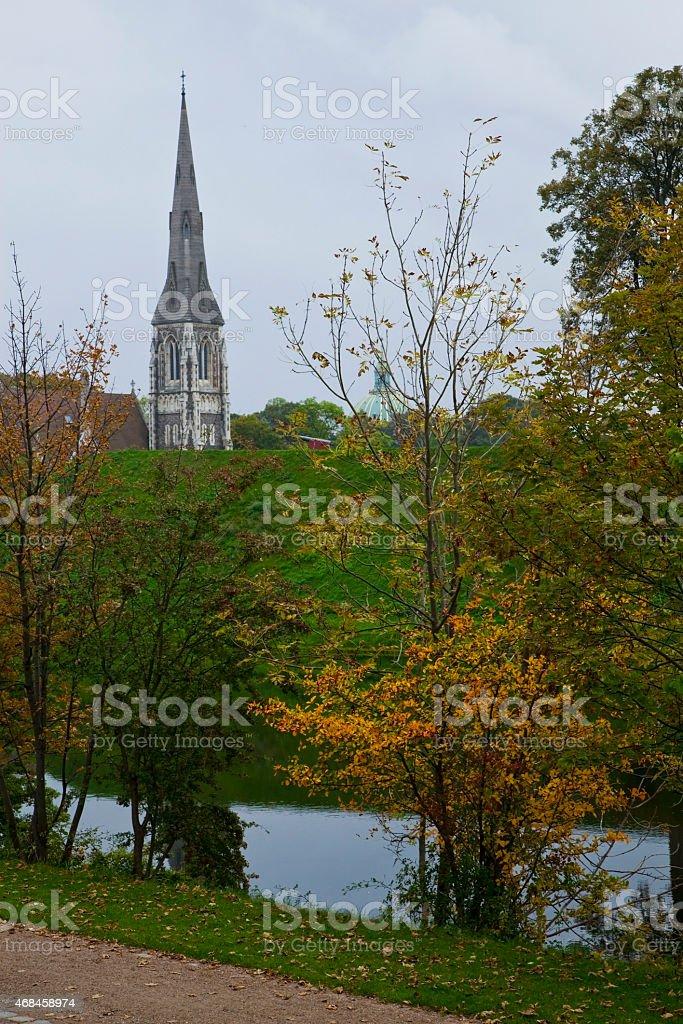 Fall in Copenhagen stock photo