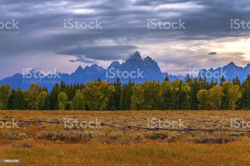 Fall in Grant Tetons National Park royalty-free stock photo