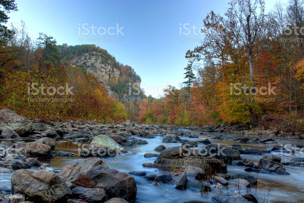 Fall in Little River Canyon stock photo