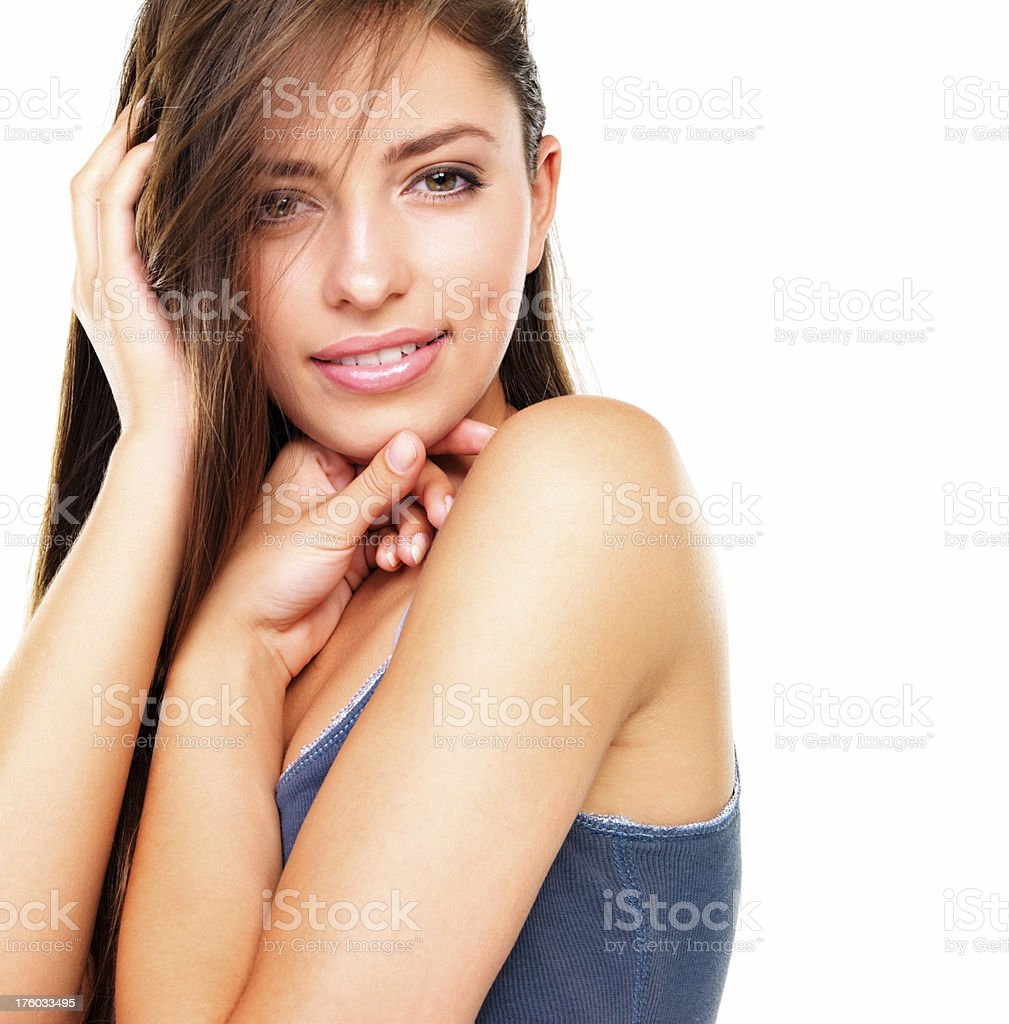 Fall in love with the girl next door stock photo