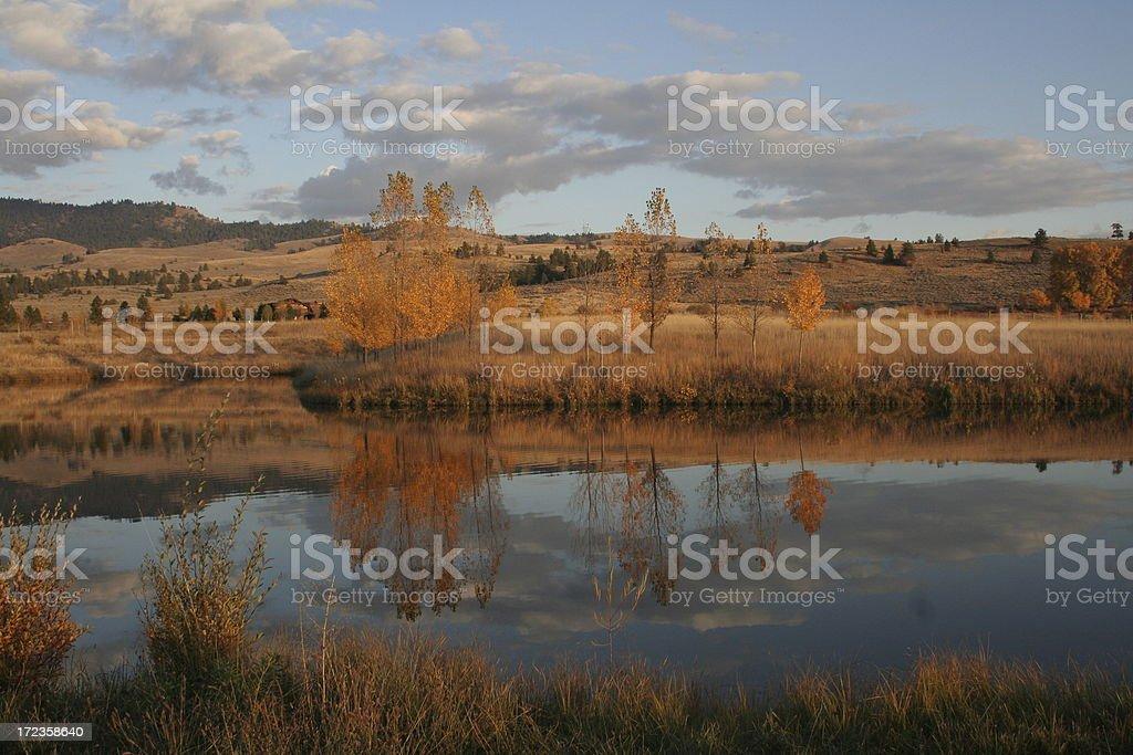 Fall in Montana royalty-free stock photo