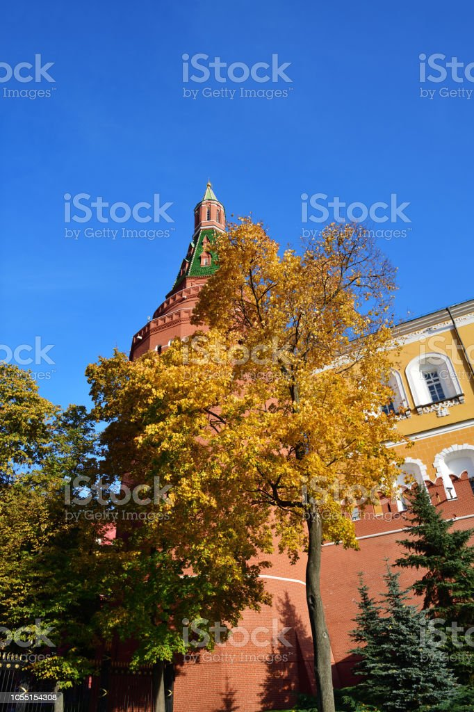 Fall in Moscow. Russia stock photo