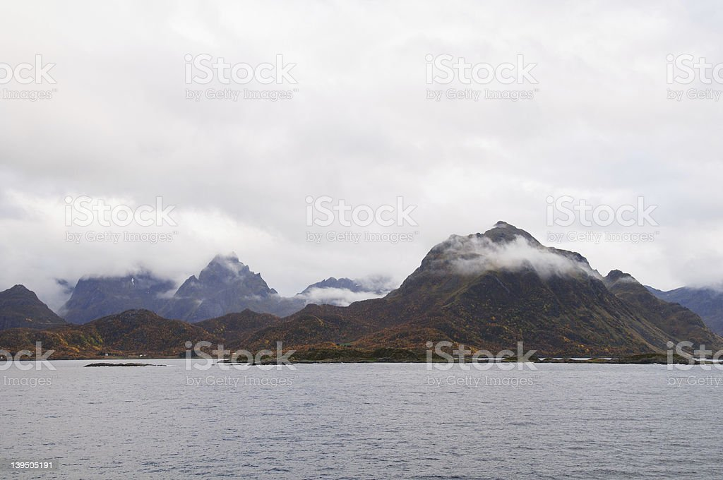 Fall in Norway royalty-free stock photo