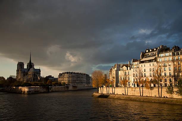 Fall in Paris stock photo