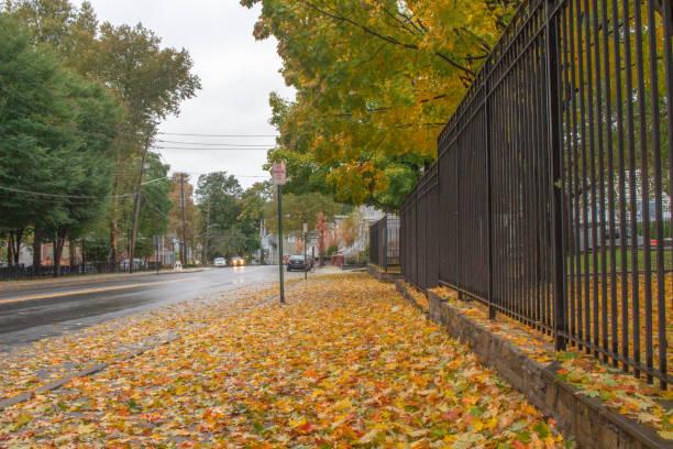 Fall in Peekskill New York stock photo