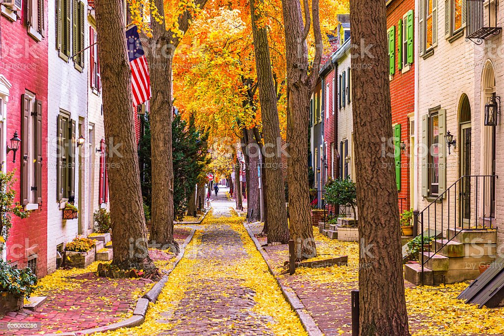 Fall in Philadelphia stock photo