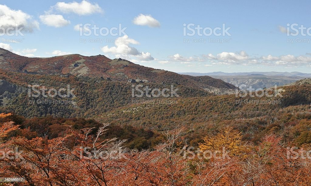 Fall in the Andean foothills near San Carlos de Bariloche royalty-free stock photo
