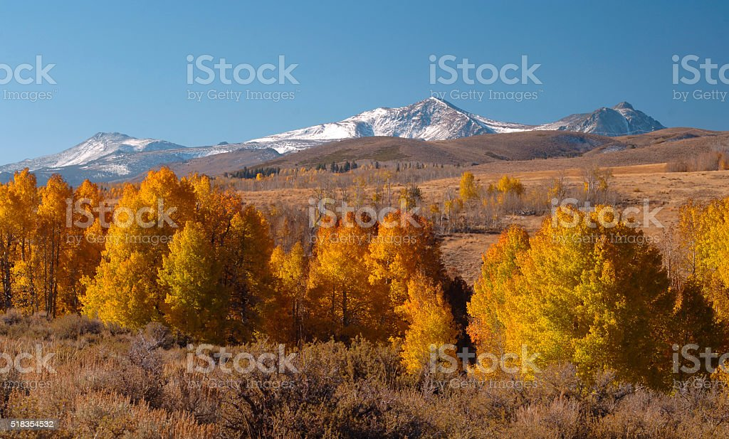 Fall in the Sierra Nevada Mountains stock photo