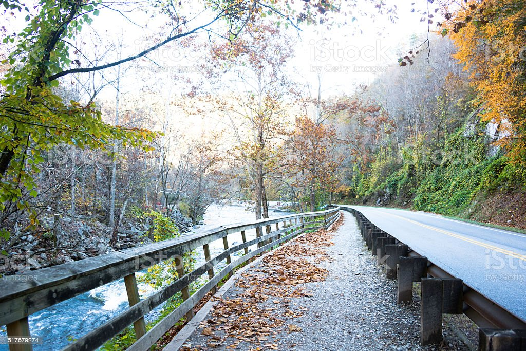 Fall in the Smoky Mountains stock photo