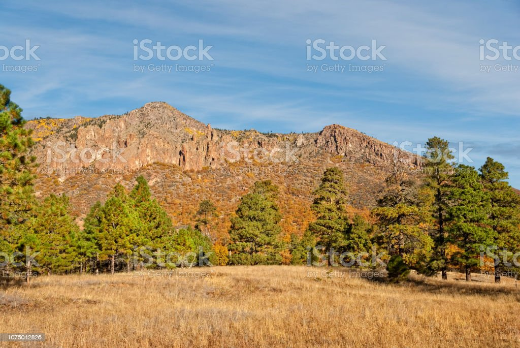 Little Elden Meadows in the Fall stock photo