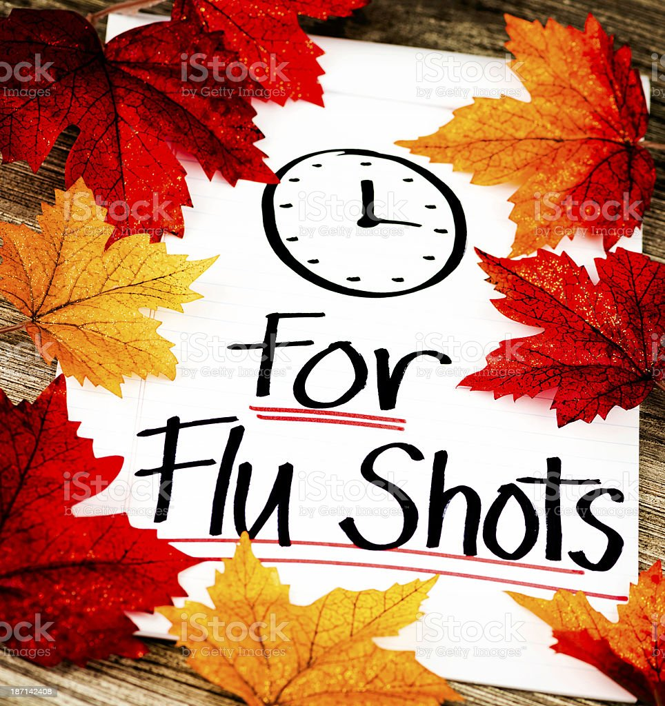 Fall is Time for Flu Shots royalty-free stock photo