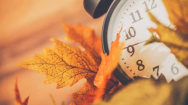 Fall is time to turn back time. Daylight Savings Time Fall is time to turn back time time zone stock pictures, royalty-free photos & images