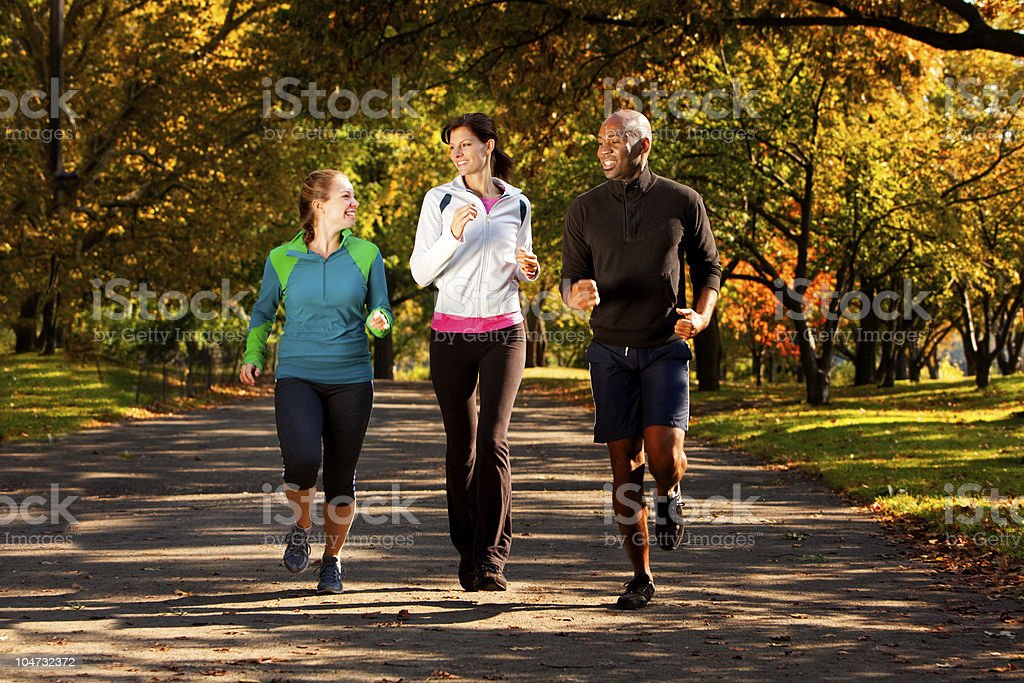 Fall Jog Park royalty-free stock photo