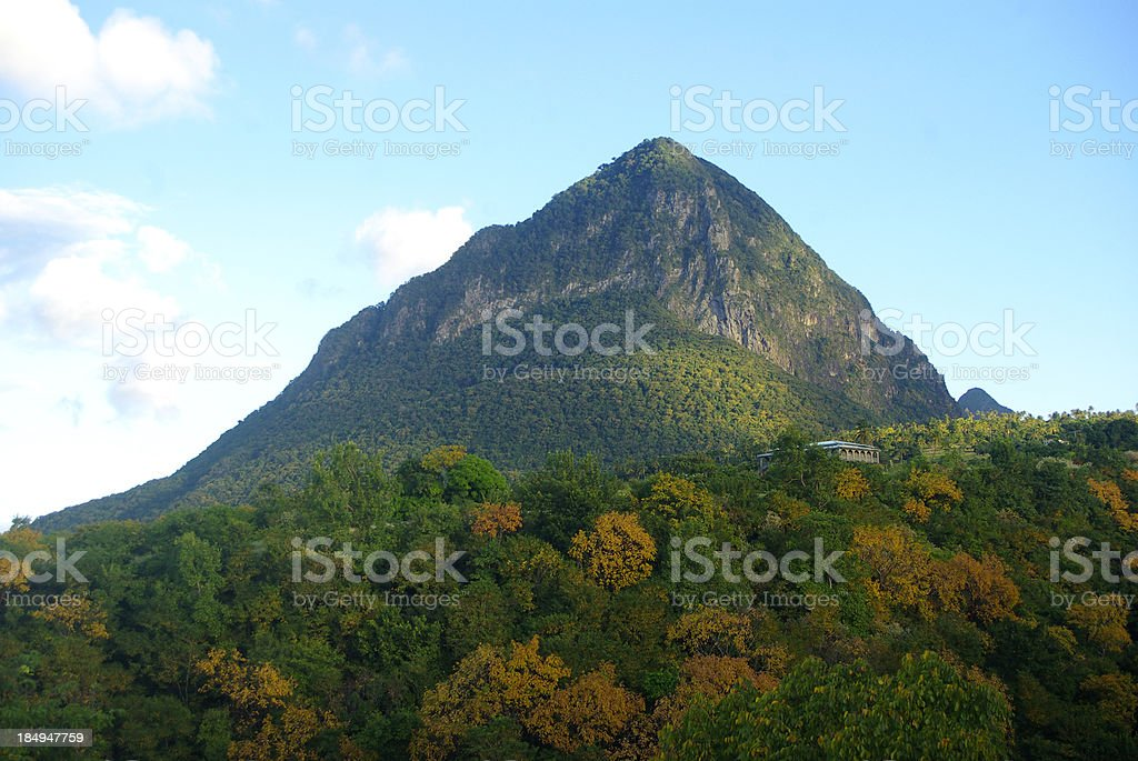 fall mountain peak landscape stock photo
