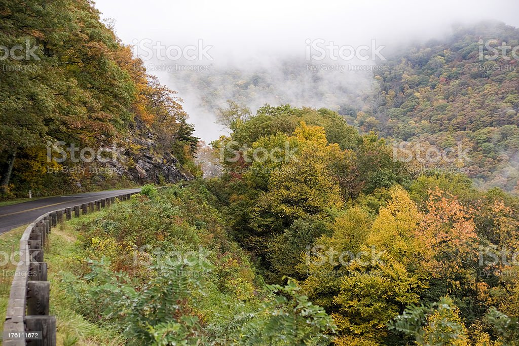 Fall Mountain Rd royalty-free stock photo