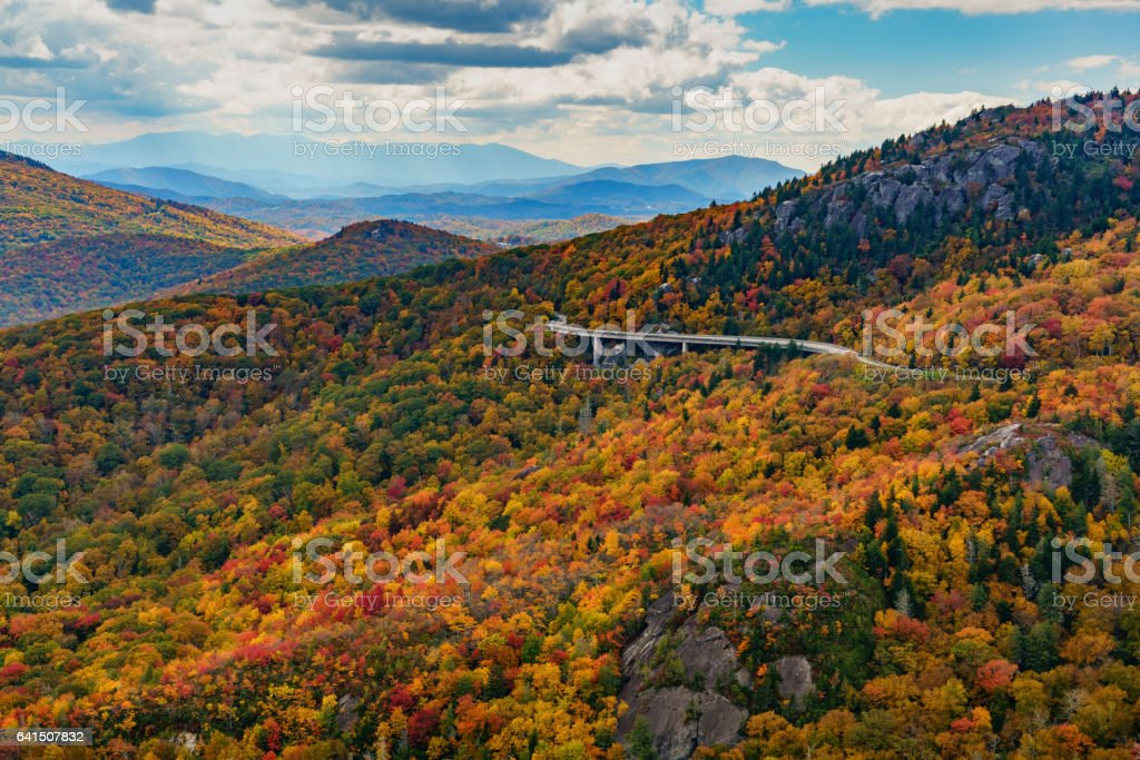 Fall on the Blue Ridge Parkway stock photo